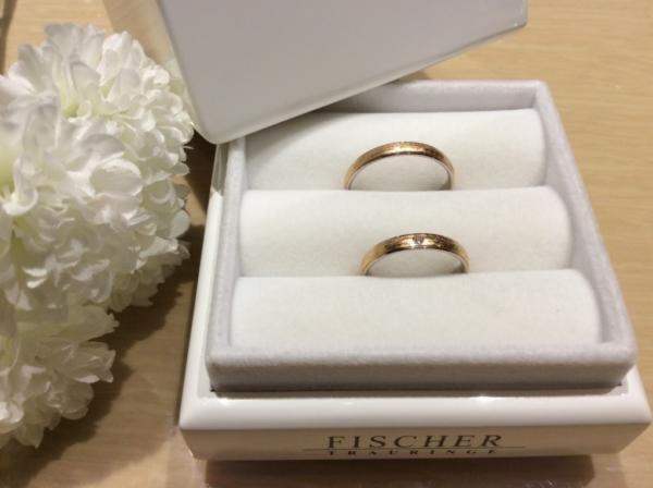 FISCHER(フィッシャー)の鍛造の結婚指輪のgarden心斎橋