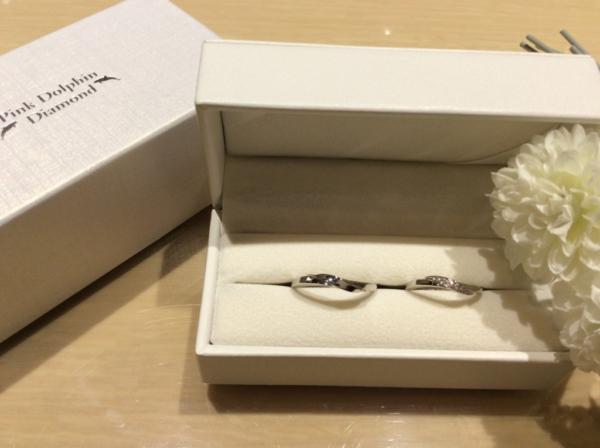 【大阪】Pink Dolphin Diamondの結婚指輪
