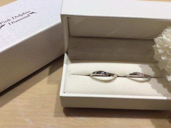 ピンクダイヤモンドの結婚指輪のgarden心斎橋