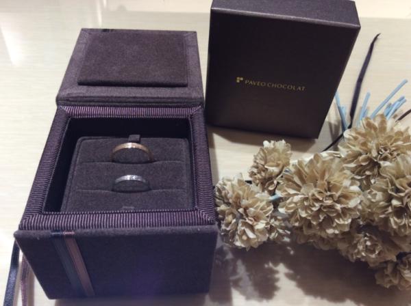 PAVEO CHOCOLAT(パヴェオショコラ)の結婚指輪のgarden心斎橋