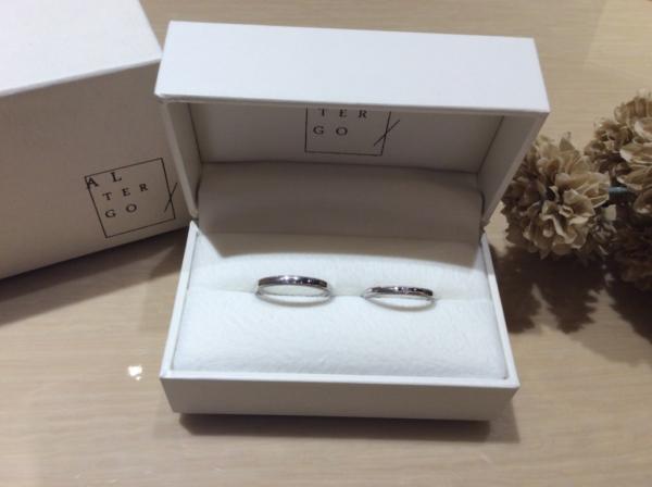【京都】ALTERGOの結婚指輪