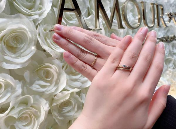 【奈良】Amour Amuletの婚約指輪と結婚指輪
