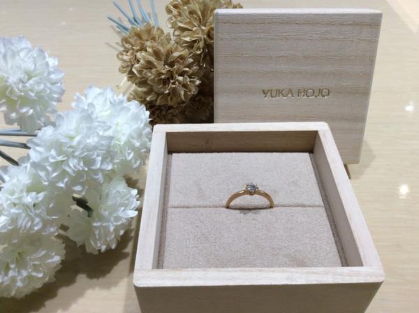YUKA HOJO(ユカホウジョウ)の婚約指輪のgarden心斎橋