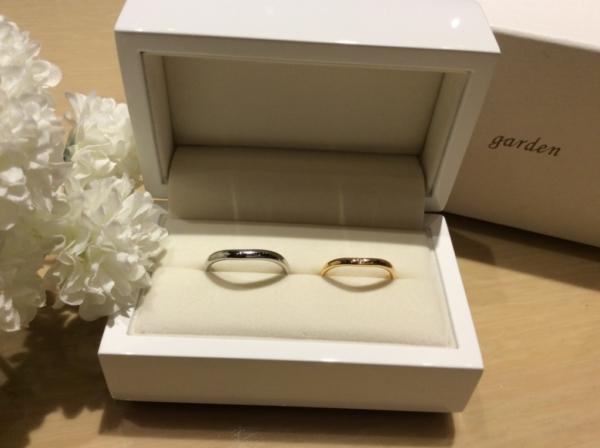 和風で輝彩の結婚指輪のgarden心斎橋