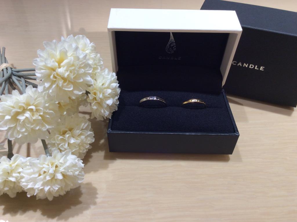 和歌山からご来店のお客様でCANDLE(キャンドル)の結婚指輪の人