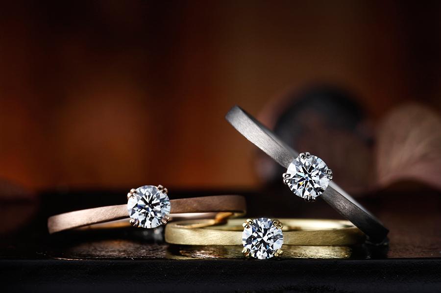 手作り婚約指輪のヘアラインのイメージ