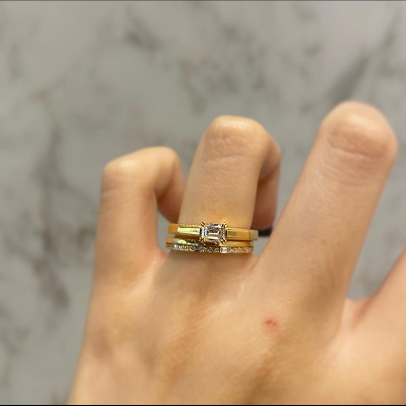 ORECCHIOの婚約指輪と結婚指輪の重ね付け